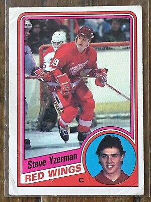 1984-85 O-Pee-Chee Hockey - Steve Yzerman #67 Detroit Red Wings Rookie RC - UD
