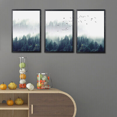 Forest Landscape Art Canvas Nordic Style Wall Picture Home Living Room Decor
