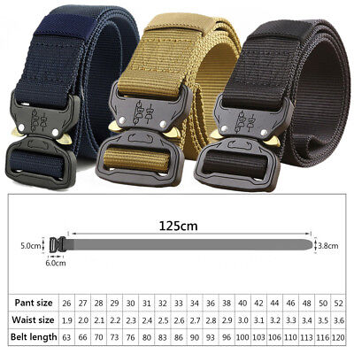 Men Military Belt Buckle Adjustable Combat Waistband Tactical Rescue Tool Rigger
