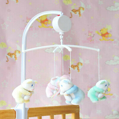 Rotary Baby Kids Crib Mobile Bed Bell Toy Wind-up Music Box DIY Hanging Gidt US