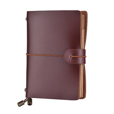 Retro Vintage Personal Notebook Leather Diary Journal Notepad School Office K0F2