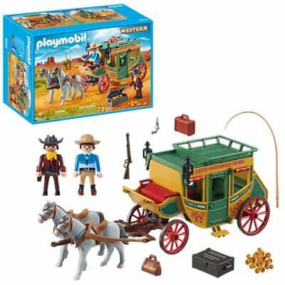 Playmobil #70013 Western Stagecoach New Factory Sealed