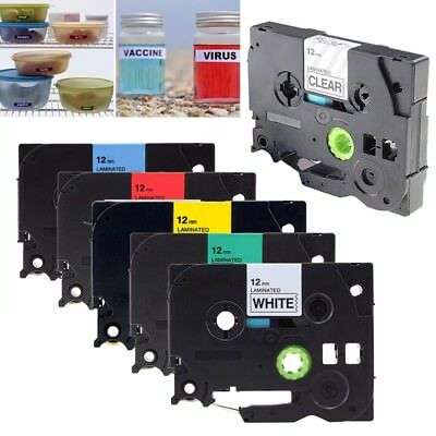 COMPATIBLE LABEL TAPE FOR BROTHER 9mm 12mm FOR P-TOUCH PT-H110 PT-H200 PT-H300