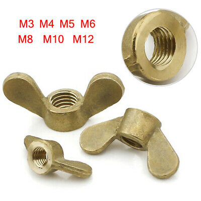 Solid Brass Wing Nuts Butterfly Nuts for Bolts Screws M3 M4 M5 M6 M8 M10 M12