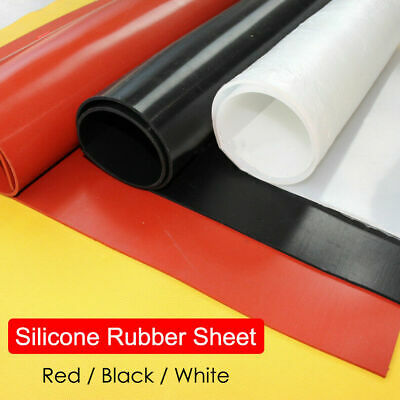 Red/Black/White Silicone Rubber Sheet Plate Mat 1/ 2/ 3/ 4/ 5/6mm A2 A3 A4 A5 A6