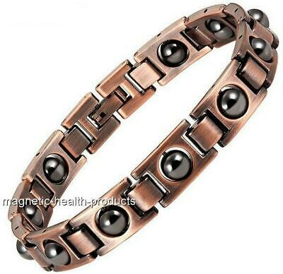 Mens Magnetic Healing Bracelet Copper Health Bangle Arthritis Pain Relief 330