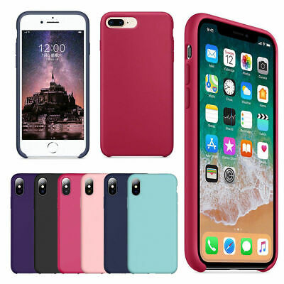 Case For Apple iPhone XS Max XR 8 7 6 6s Plus Luxury Silicone Genuine Back Cover
