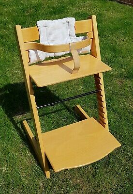 Stokke Tripp Trapp High Chair. Natural Varnished Wood