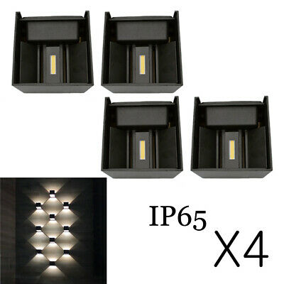 4X Cube LED Wall Light Lamp Yard 12W Indoor Porch Up/Down Sconce Cool/Warm