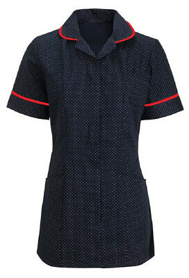Alexandra Spotted NHS Nurse Scrub Carer Matron Healthcare Tunic Dress - HF719