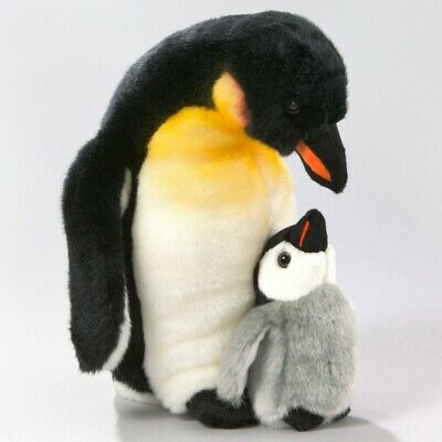 New Plush Cuddly Critters Emperor Penguin & Baby Chick Soft Toy Bird Teddy
