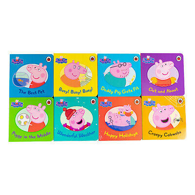Peppa Pig Picture 8 Board Books Collection Set Pack NEW