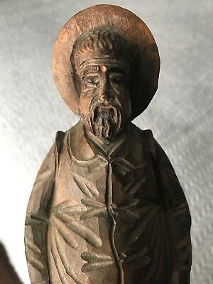 Vintage Carved Wooden Figure Portly Gentleman Man Ouro Spain Spanish