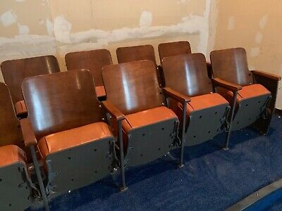 theater seating vintage  chairs folding antique theatrical seats