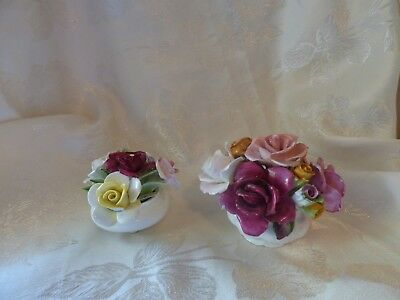Royal Doulton & Royal Albert Old Country Roses China Bouquet Posey England set 2