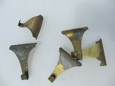 Victorian Brass Picture Rail Hook Moulding Hanging Antique Hooks Hangers Old x5