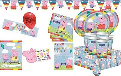 PEPPA PIG Happy Birthday Party Supplies Tableware Balloons Decorations Banners