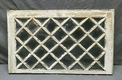 Antique Window Sash Diamond Lattice Cottage Shabby Vintage Chic 203-19L