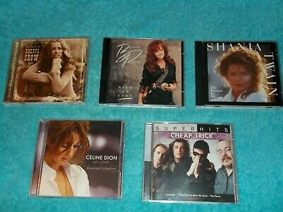 Cd Lot (5) Soft Rock,Pop,Blues, County, All Cd's And Cases In Great Condition