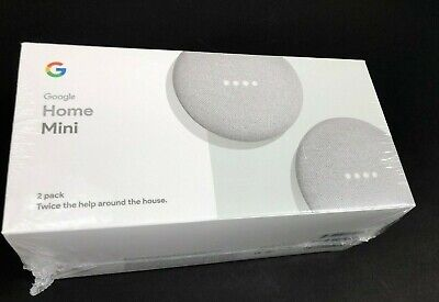 Google Home Mini Smart Assistant, Two Pack - White and Gray (GA00377-US)