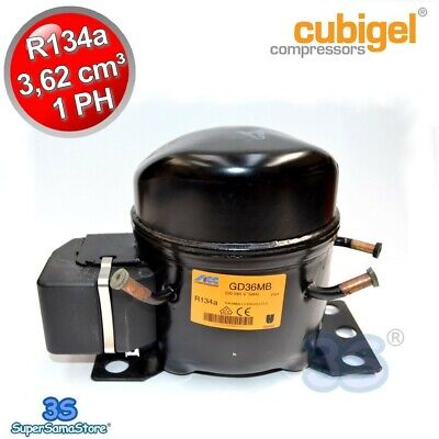 3S MOTORE Compressore R134a 1PH 3,62 cm3 CUBIGEL GD36MB MHBP NUOVO
