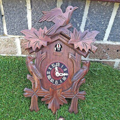 Quarter Call Cuckoo Clock 1-Day Movement - Black Forest Style