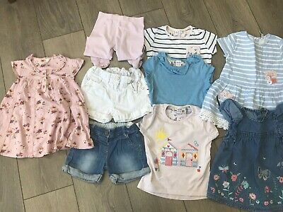 Girls Summer Tops, Dresses And Shorts Bundle Age 2-3 Years