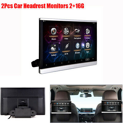 "2x 12.5"" 1080P Car Headrest Monitor Media Player Android Mirror Link TPMS 2+16G"