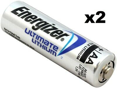 NEW Energizer L91-FR6 Ultimate Lithium 1.5V AA Batteries (2-Pack) Double-AA