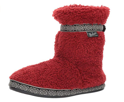 Woolrich Women's Whitecap Boot Slipper, Red Dahlia