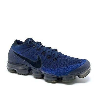 huge selection of a9183 4a9c2 NIKE Air VAPORMAX Men's Size 8.5 Flyknit Mesh College Navy Blue Sneaker Shoe