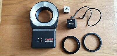COBRA MACRO RING FLASH + 2 adapter rings to fit 49mm 55mm lens in working order.