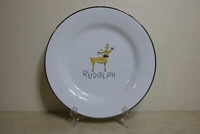 Rare Retired Pottery Barn Reindeer Rudolph Large Serving Platter Chop Plate 12""