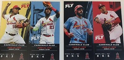 (2/4) Green Seat Tickets to St. Louis Cardinals vs. Angels All-Inclusive 6/23