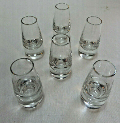 6 Clear 2 oz. Cordial ?Liqueur Heavy  Bottom Shot Glasses-Makers Mark