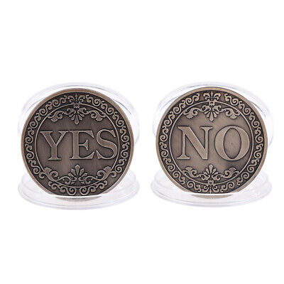 Floral YES NO Letter Ornaments Collections Arts Gifts SouvenirCommemorative Coin