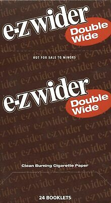 E-Z  Wider~ Double Wide Rolling Papers -24 PACK Clean Burning Cigarette Paper