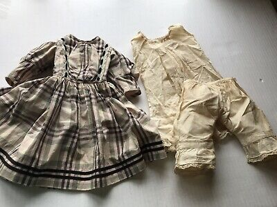 Antique Vintage Doll Dress for German Bisque Doll Dress   Undergarments No Doll