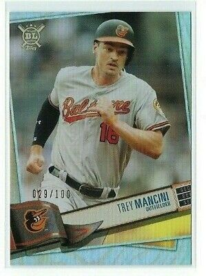 Trey Mancini 2019 Topps Big League #146 Rainbow Foil Parallel #d 029/100 Orioles