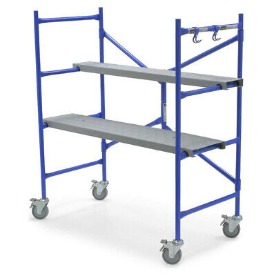 Werner 4.2-ft x 4.167-ft x 25.5-in Rolling 500 lbs. Steel Portable Scaffold