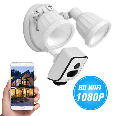FREECAM Floodlight HD 1080P Security Wifi Camera Motion-Detected Wireless P5A9