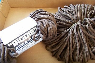 Lily BIGGIE Braided Macrame Craft cord 6mm 100 yds BROWN Made in USA