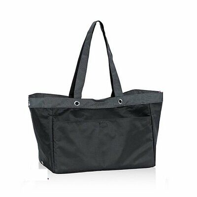Thirty one Soft large Utility gym tote 31 gift beach mummy bag Black Twill Strip