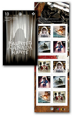 2014-Haunted Canada 1: Permanent Domestic stamps - Booklet of 10 SC#2753a
