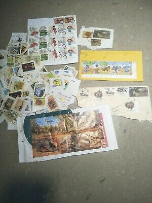 150+ Postage Stamps Australian Bulk Lot On Paper