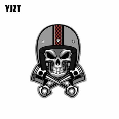 Creative Cafe Racer Skull Pistons Helmet Car Sticker Decal JDM