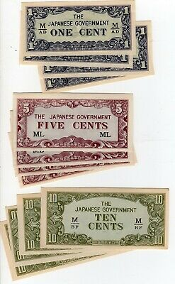 Lot of Malayan Japanese Invasion money x 21 notes as scan