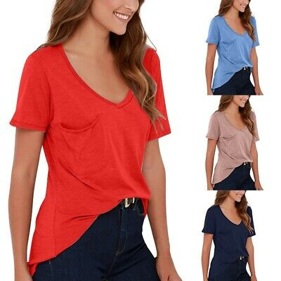 9663f0184 ZENANA OUTFITTERS WOMENS Basic Scoop Neck Short Sleeve T-Shirts ...