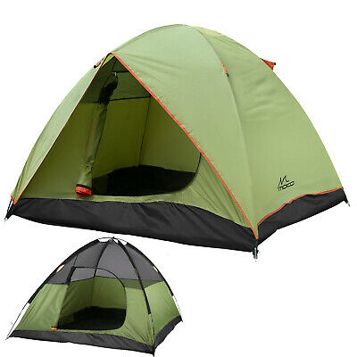MoKo 4-Season 3 Person Double Layer Dome Tent Sun Shelter for Camping Backpack