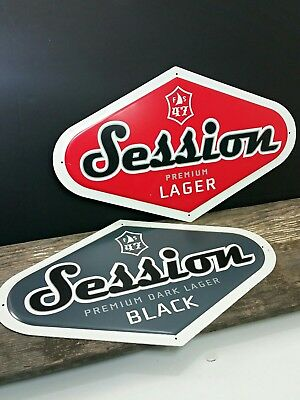 Session Beer Metal Signs, Tin Tacker, Man Cave Decor, Beer Brewing Breweriana